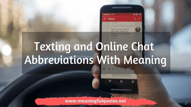 Texting and Online Chat Abbreviations With Meaning