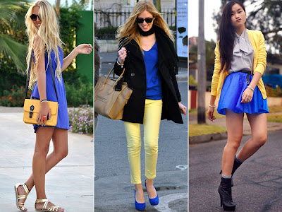 como combinar roupa azul