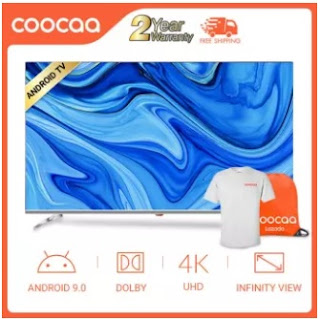 Affordable and Cheap COOCAA 65 inch 4K Android 9.0 Smart LED TV-Frameless Wifi Ultra HD 3840*2160 Chromecast (Model 65S6G)