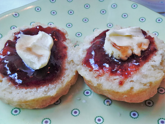 scones, jam, cream tea, cream, Doulton