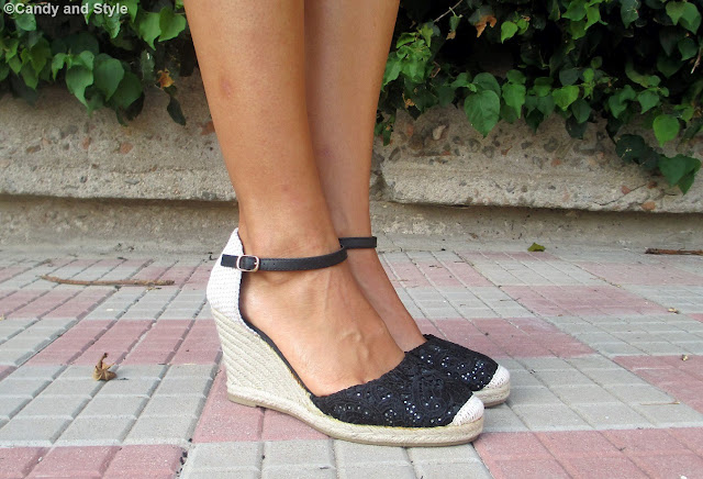 Lace Wedge Espadrilles