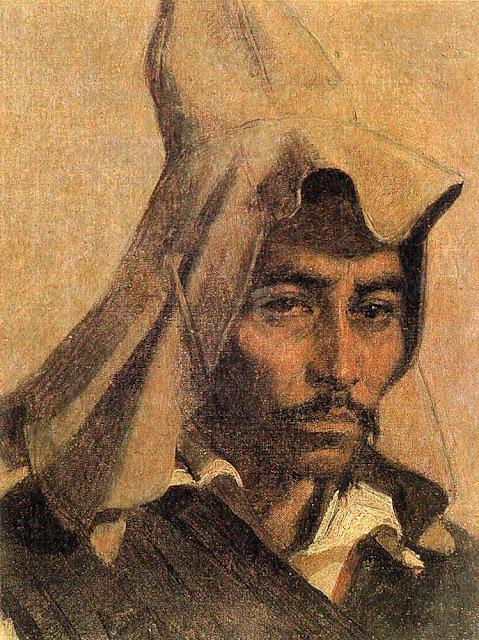 Василий Васильевич Верещагин - Казах в национальном головном уборе. 1867