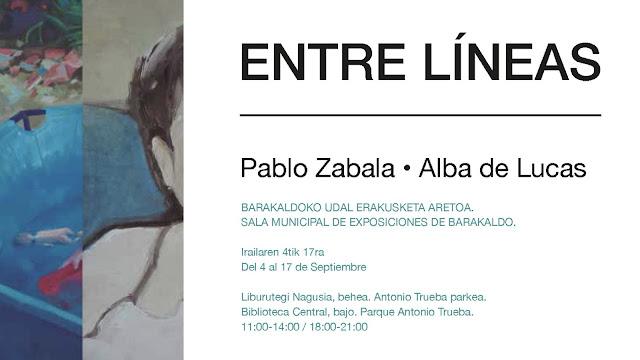 Cartel de la exposición Entre líneas