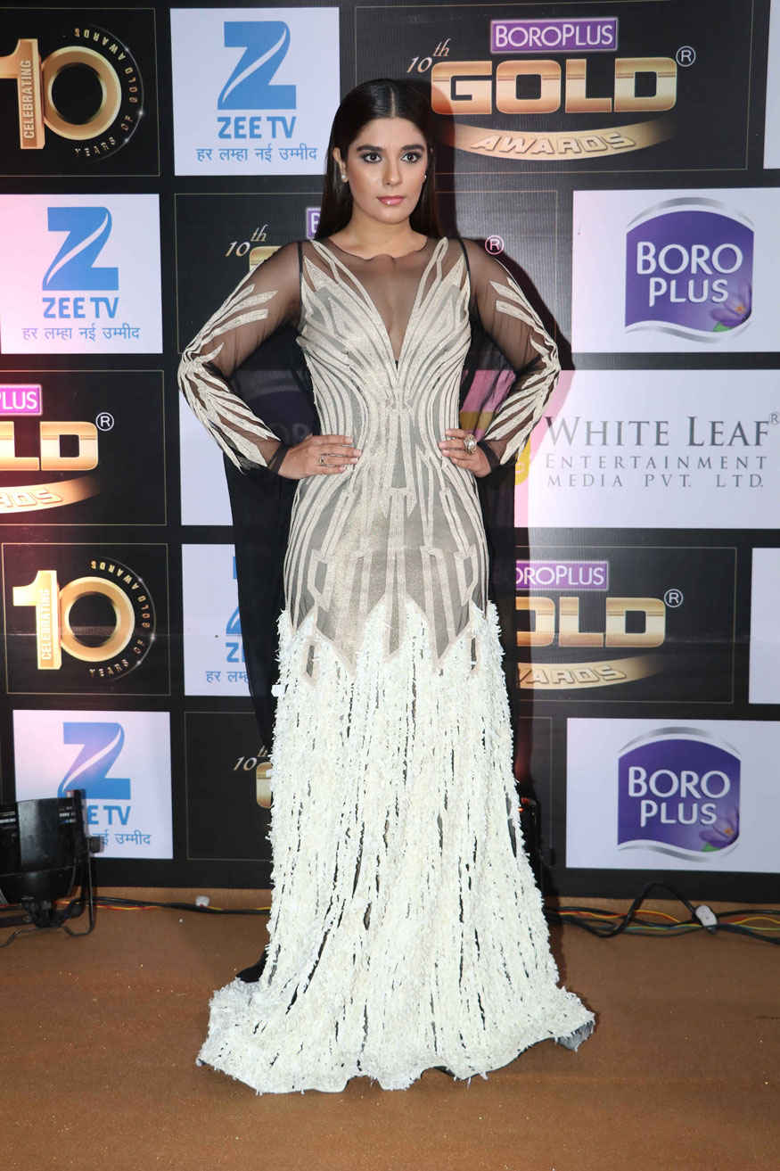 Aarti Chhabria and Pooja Gor Poses at The 10th Zee Gold Awards in Mumbai