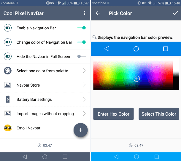 Cool Pixel Navbar app Android