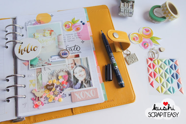 Scrappin planner by kushi per Scrap It Easy | www.kkushi.com