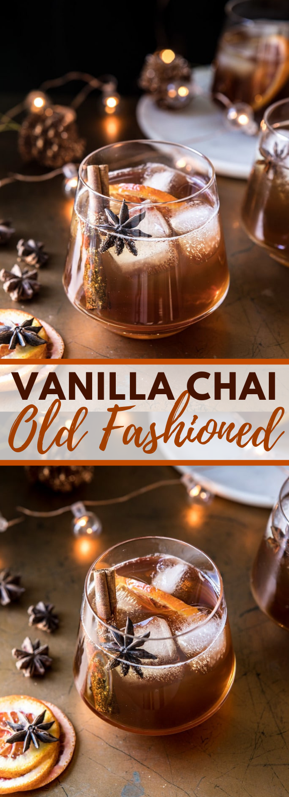 Vanilla Chai Old Fashioned #drink #cocktails