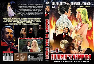 Carátula dvd: Lujuria para un vampiro
