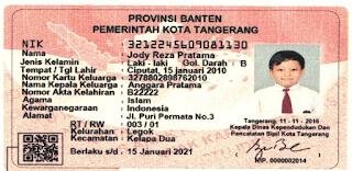 Kartu Identitas Anak Depan