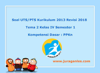 Contoh Soal UTS/ PTS Tema 2 PPKn Kelas 4 Semester 1 K13 Revisi 2018