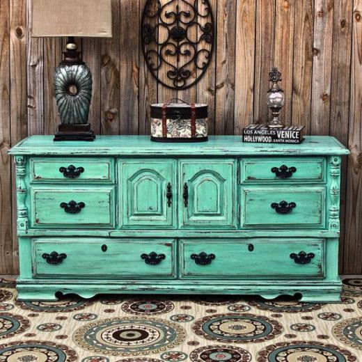 vintage blue distressed bedroom furniture