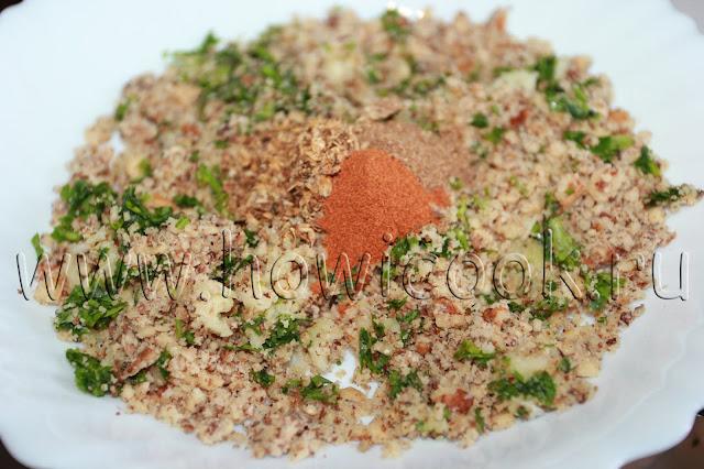 рецепт ореховых пхали из баклажанов, свеклы и шпината  с пошаговыми фото