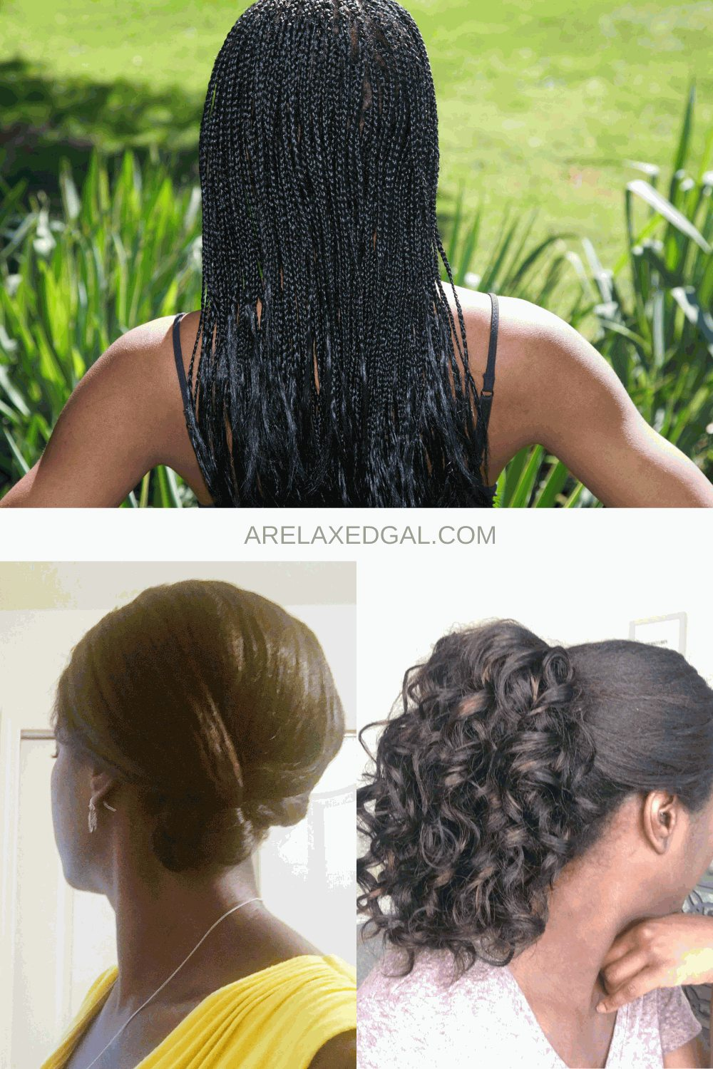 Great Summer Protective Style Ideas For Relaxed Hair   A Relaxed Gal