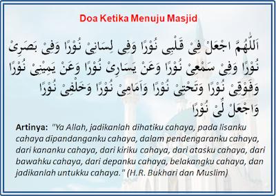 Doa Saat Berjalan Menuju Ke Masjid Lengkap