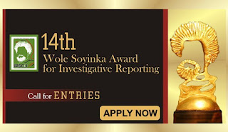 Wole Soyinka Award for Investigative Reporting 2019 [14th Edition]