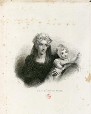 S.A.R. Duchesse de Berry Marie-Caroline de Bourbon-Siciles.