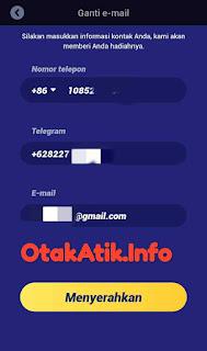 informasi kontak untuk withdraw
