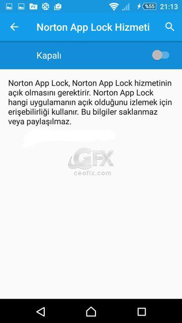 Norton App Lock hizmeti