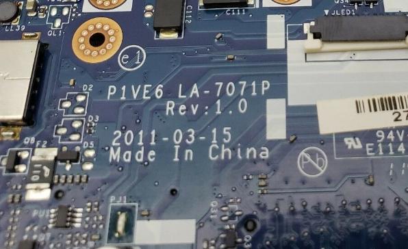 LA-7071P REV 1.0 U7 ACER AO722 Laptop Bios