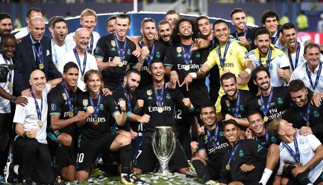 REAL MADRID GANA LA SUPERCOPA DE EUROPA AL VENCER 2 A 1 AL MANCHESTER UNITED
