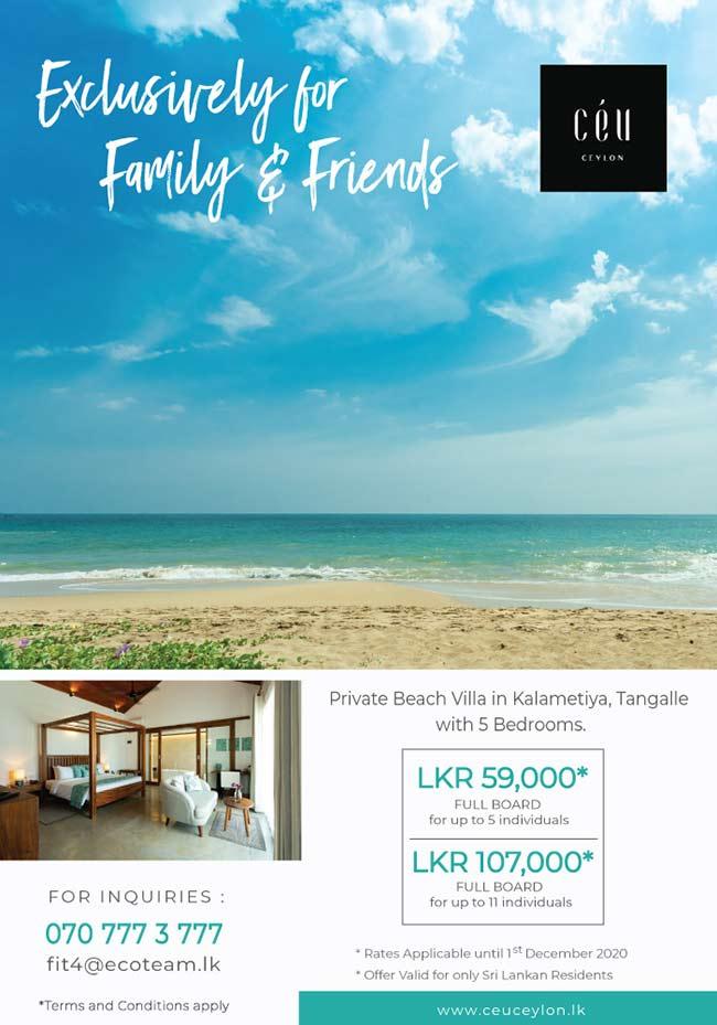 Ceu Ceylon - Exclusively for Family & Friends, Private Beach Villa in Kalametiya
