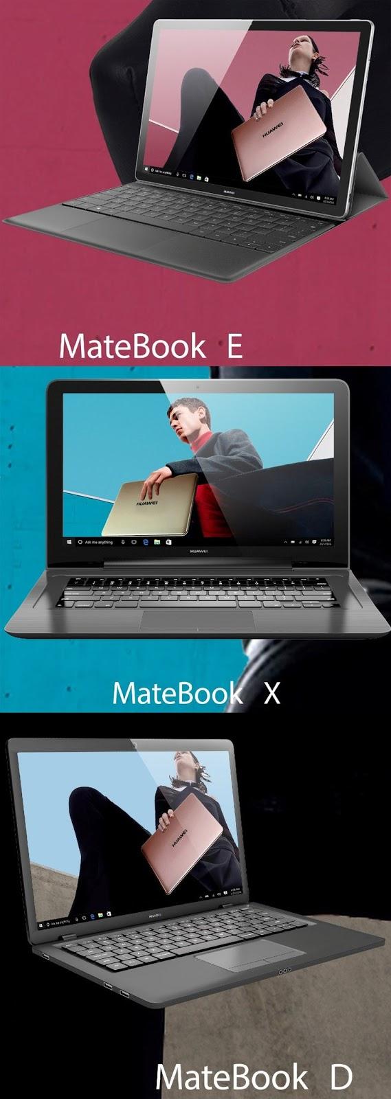 Lộ diện hình ảnh 3 mẫu MateBook mới của Huawei