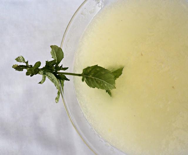 limonada, hierbabuena, sin azúcar, bebida, receta, casera
