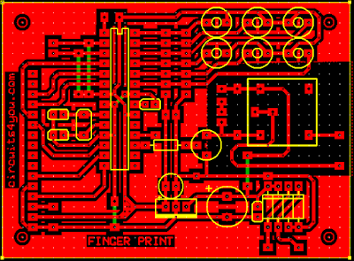 Finger print based security system PCB Layout