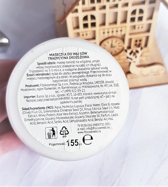 Fitokosmetyk maseczka do włosów drożdżowa