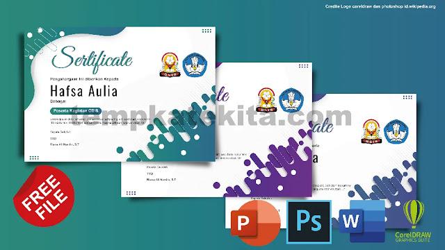 Download Template Sertifikat OSIS Keren Photoshop Dan Coreldraw