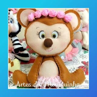 macaco de feltro