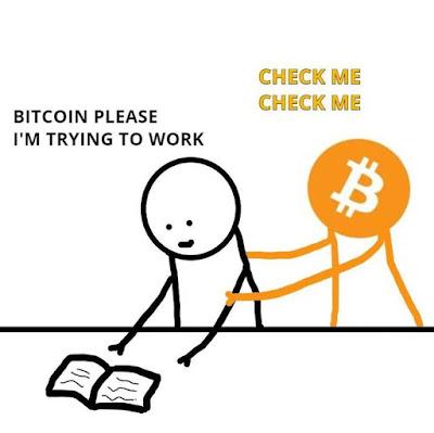 Der Drank ständig den Bitcoin Kurs zu verfolgen lustig