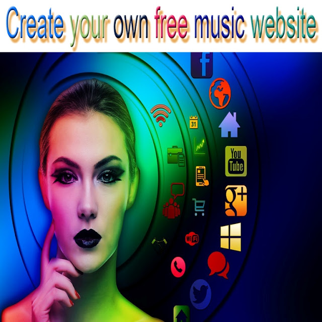 creat own music website free