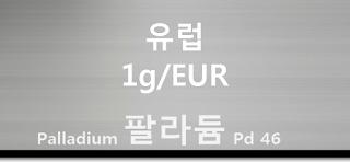 오늘 유럽 팔라듐 1 그람(g) 시세 : 99.95 팔라듐 1 그람 (1g) 시세 실시간 그래프 (1g/EUR 유럽 유로)