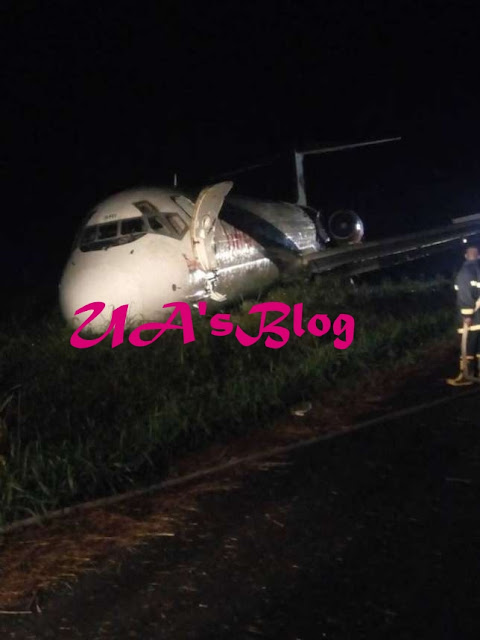 Happening Now: Dana Aircraft Crashes In Port Harcourt Airport, See Picture