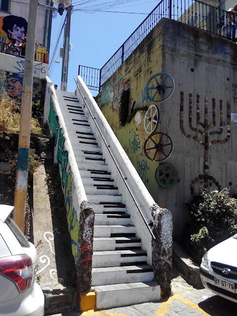 Valparaíso, escalera piano