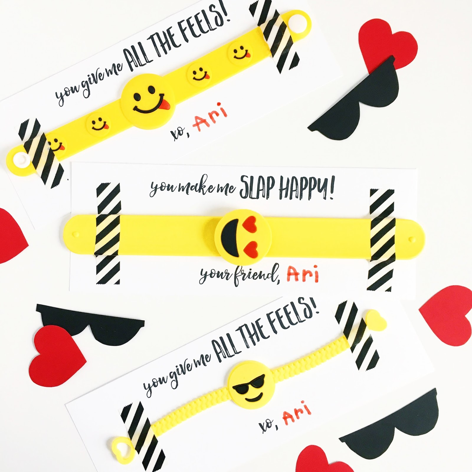 photo about Free Printable Emojis titled VALENTINE EMOJI BRACELETS Free of charge PRINTABLE