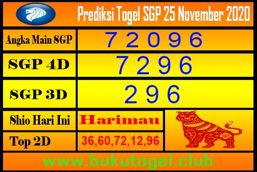Syair Sgp 25 November 2020