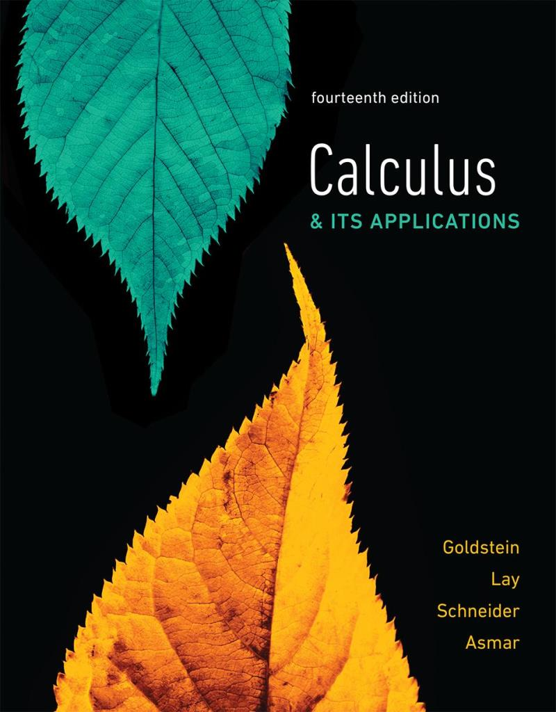 Calculus & its applications, 14th Edition – Larry J. Goldstein