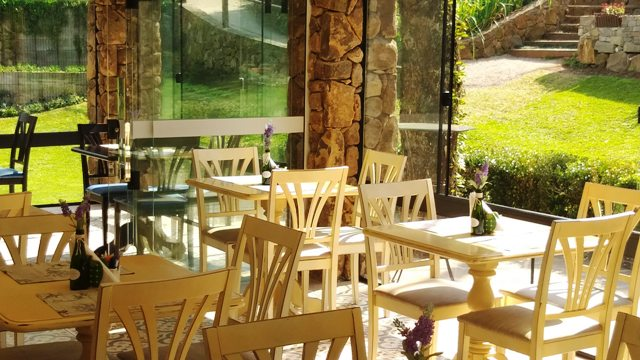 Restaurante no Le Jardin Parque de Lavanda em Gramado, na Serra Gaúcha