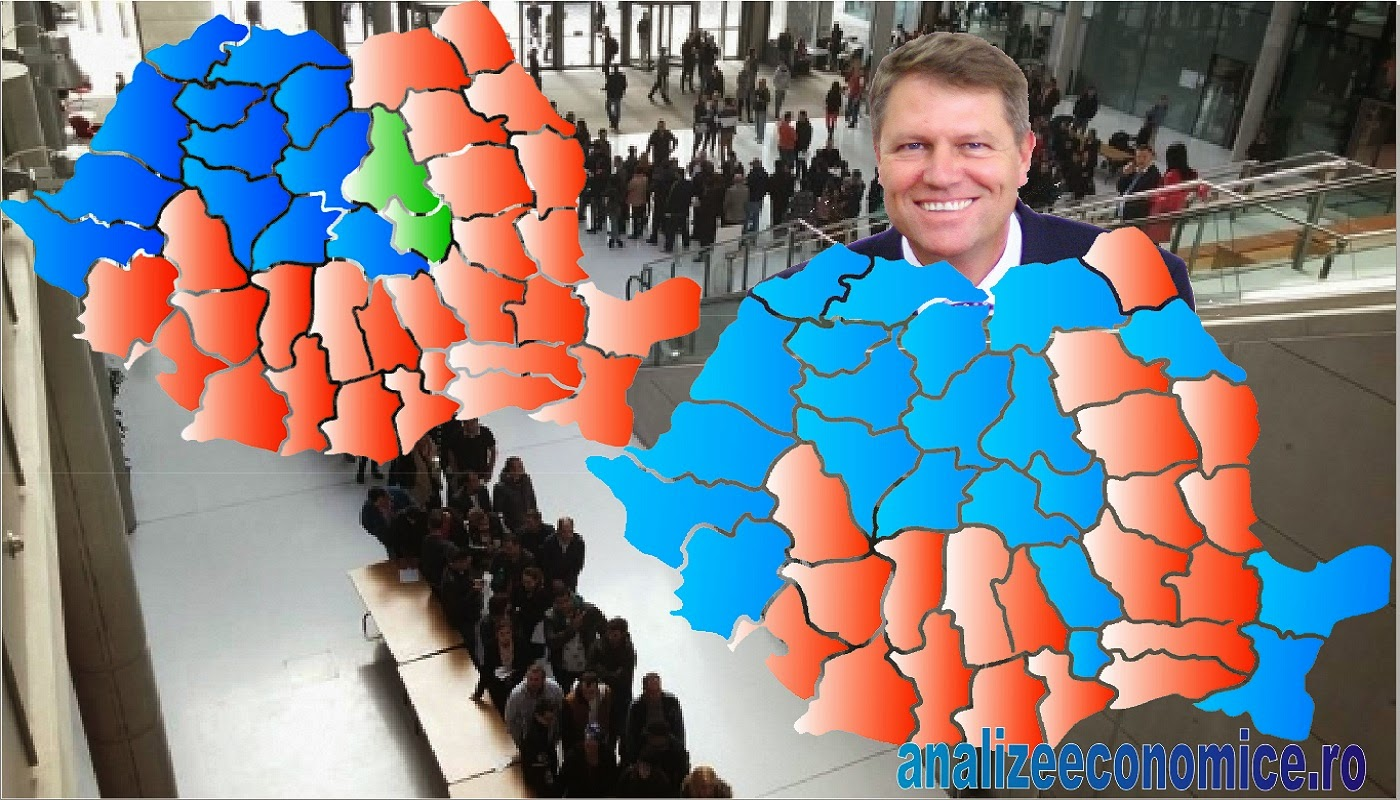 Rezultate alegeri prezidențiale pe județe 2014