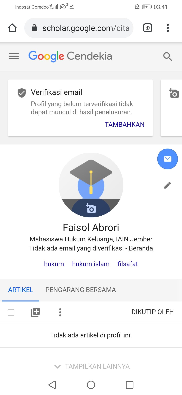 Cara Membuat Akun Google Scholar