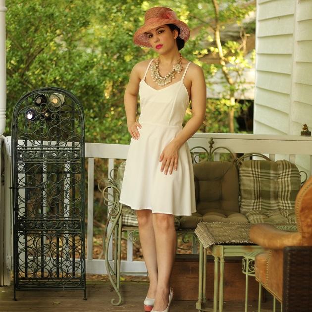 Shein White Angel Wing Dress