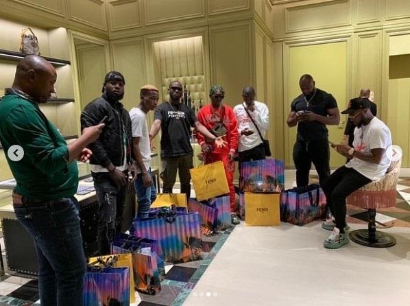 Davido Shops For His Squad In Dubai (Photos)