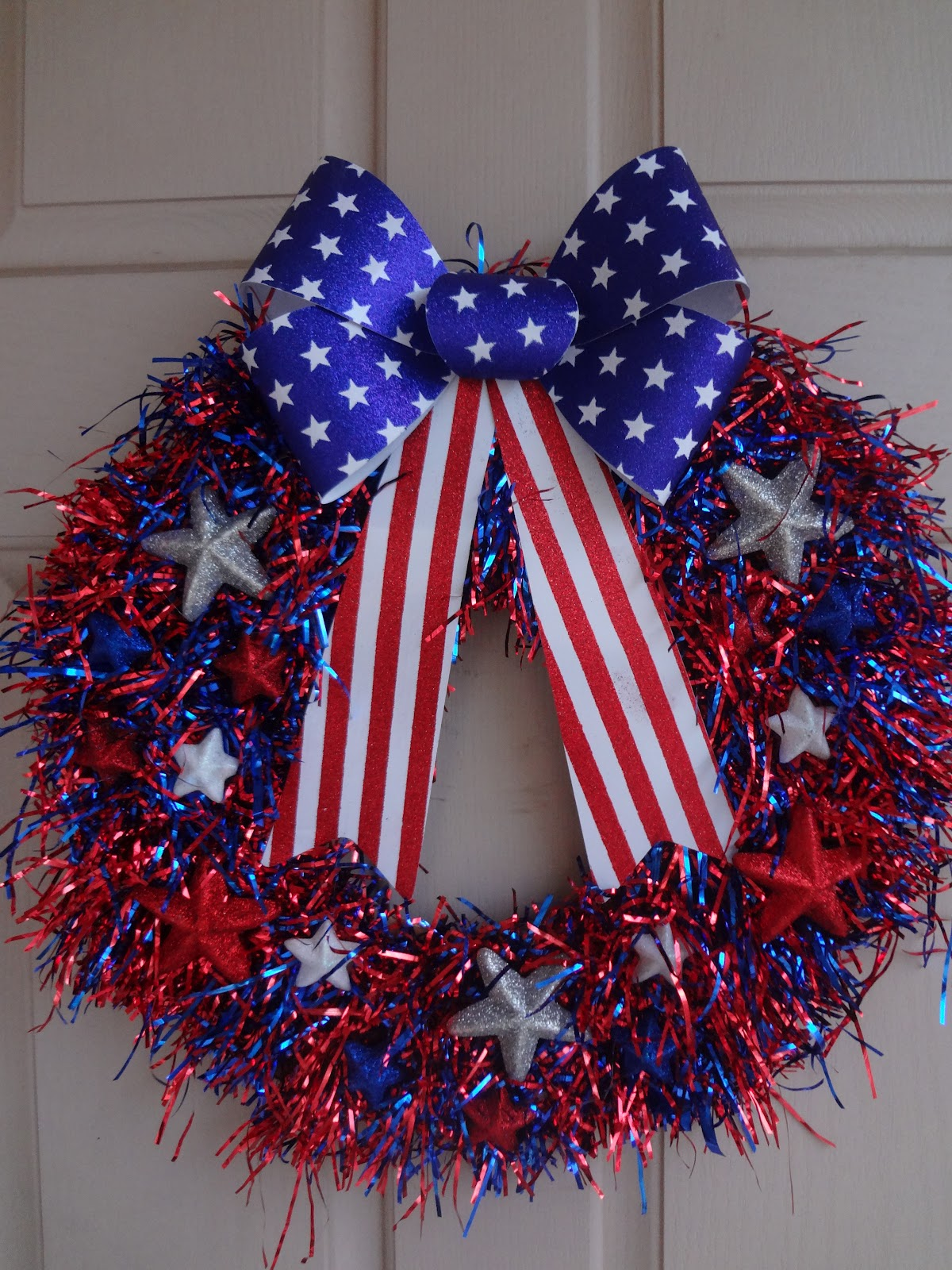 The Busy Broad Patriotic Wreath
