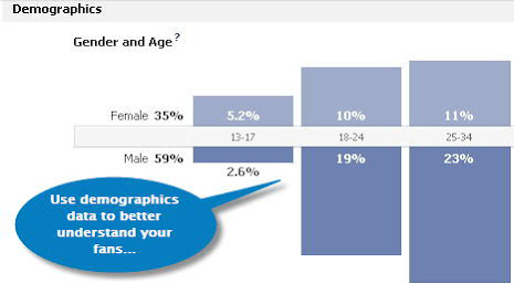 Facebook insights demographic data