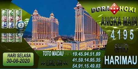 Prediksi Dorahoki Togel Macau Selasa 30 Juni 2020