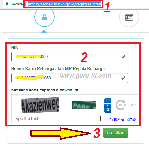 gambar cara registrasi CPNS Online di sscn bkn go.id