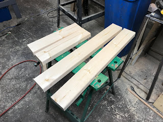 Cut lengths of 2X4