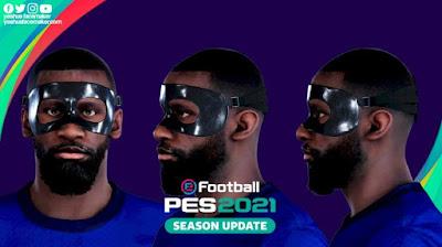PES 2021 Faces Antonio Rudiger (Masked) by Yeshua